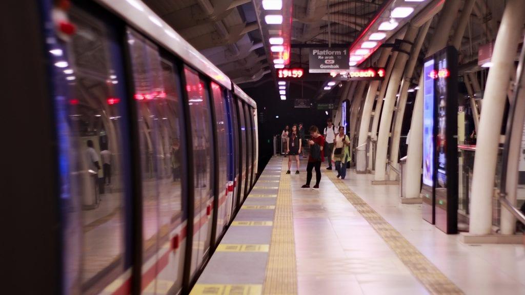 image of an empty metro