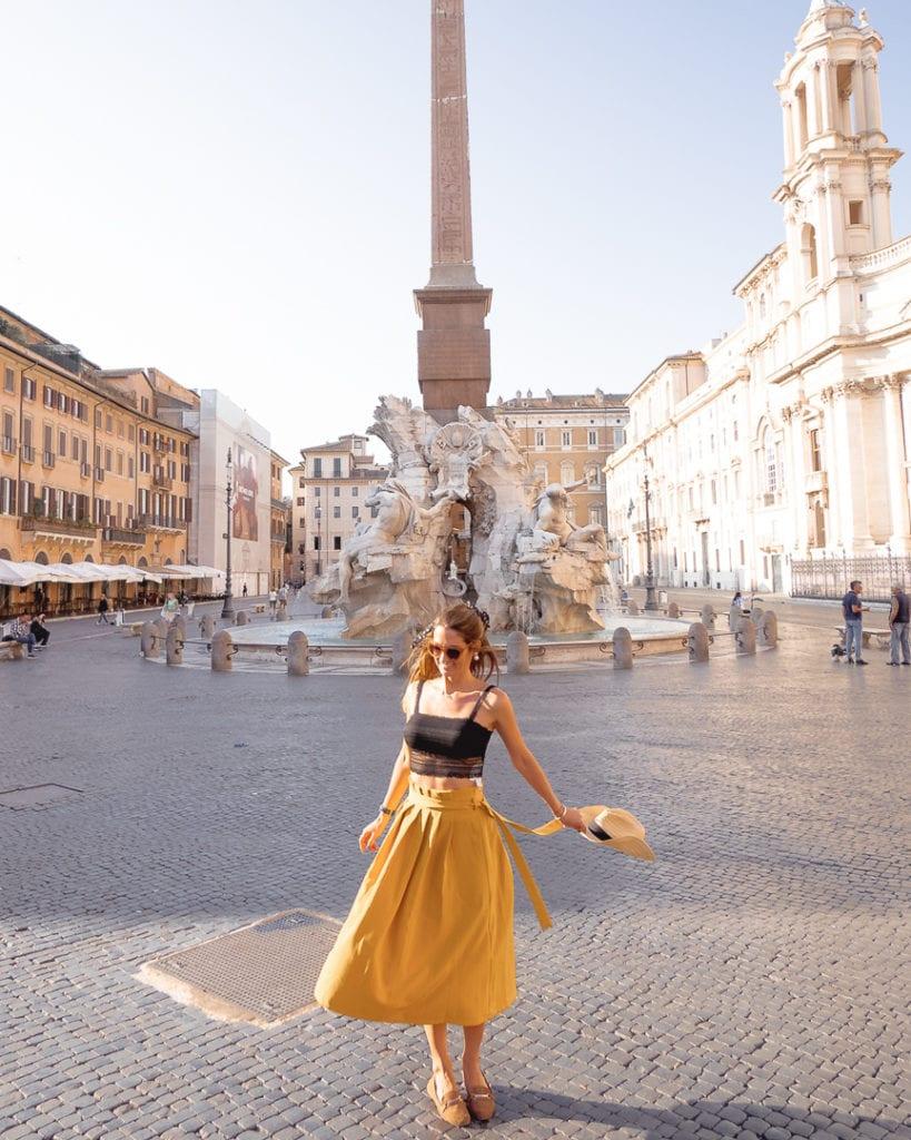 a linda Piazza Navona em Roma
