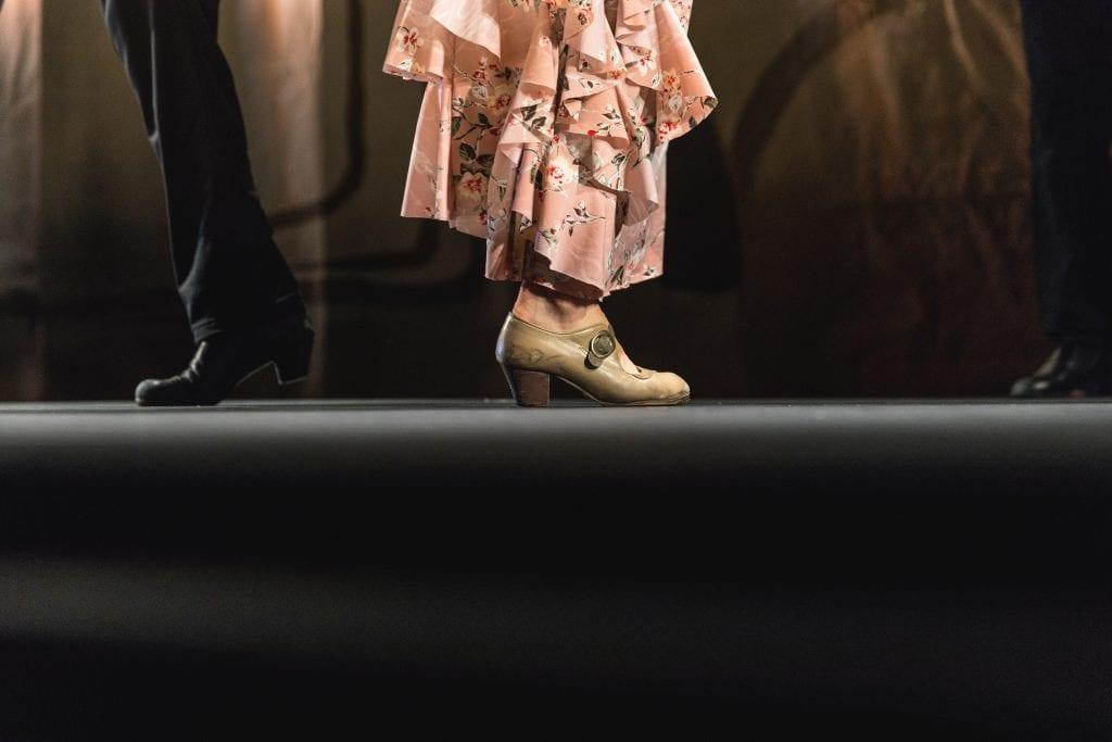 a man and  women's feet ready to dance Flamenco in Sevilla